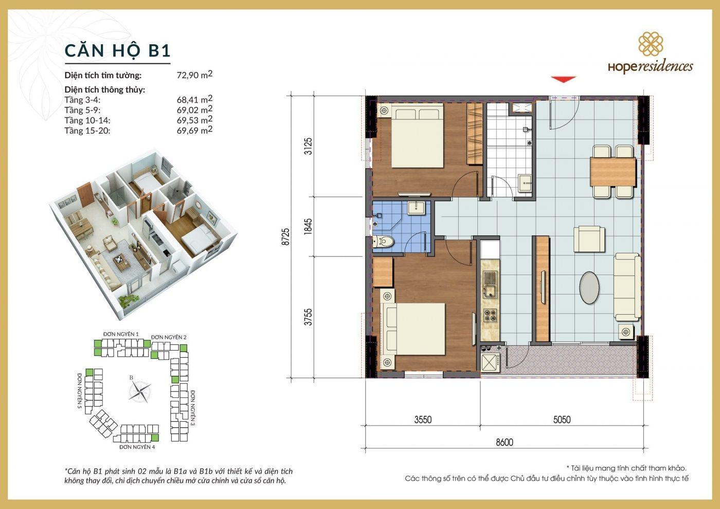 mat bang thiet ke can ho b1 hope residences