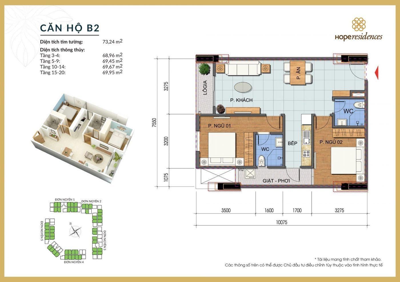 mat bang thiet ke can ho b2 hope residences