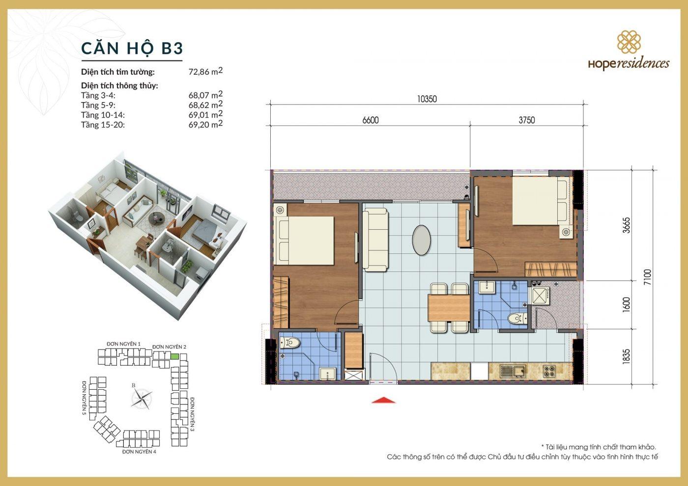 mat bang thiet ke can ho b3 hope residences