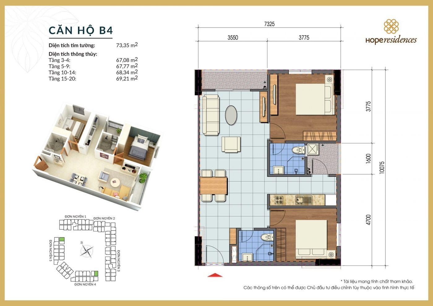 mat bang thiet ke can ho b4 hope residences