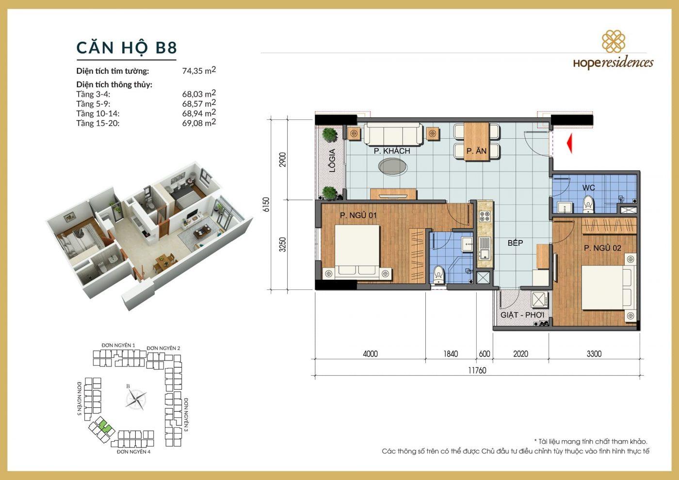 mat bang thiet ke can ho b8 hope residences