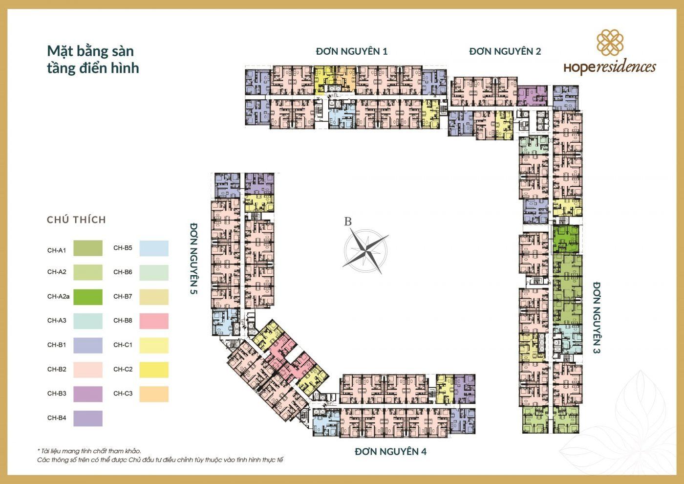 mat bang tong the hope residences